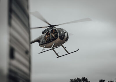 Helicopter hog hunting